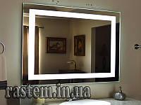Зеркало для ванной  с LED подсветкой влагостойкое  1025х800 мм. зеркало