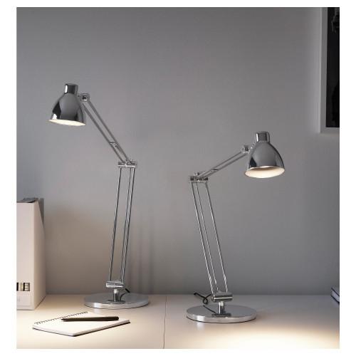 АНТИФОНИ Лампа рабочая настольная, никелированный 20304736 IKEA, ИКЕА, ANTIFONI