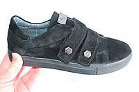Замшевые женские кеды, код 202, цвет черный