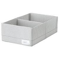 СТУК Ящик с отделениями, белый/серый, 20x34x10 см 20364004 ИКЕА, IKEA, STUK