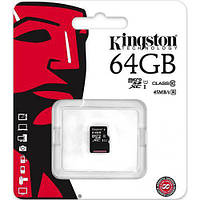 Kingston microSDXC 64GB Class 10 UHS-I (с адаптером) (SDC10G2/64GB), фото 1