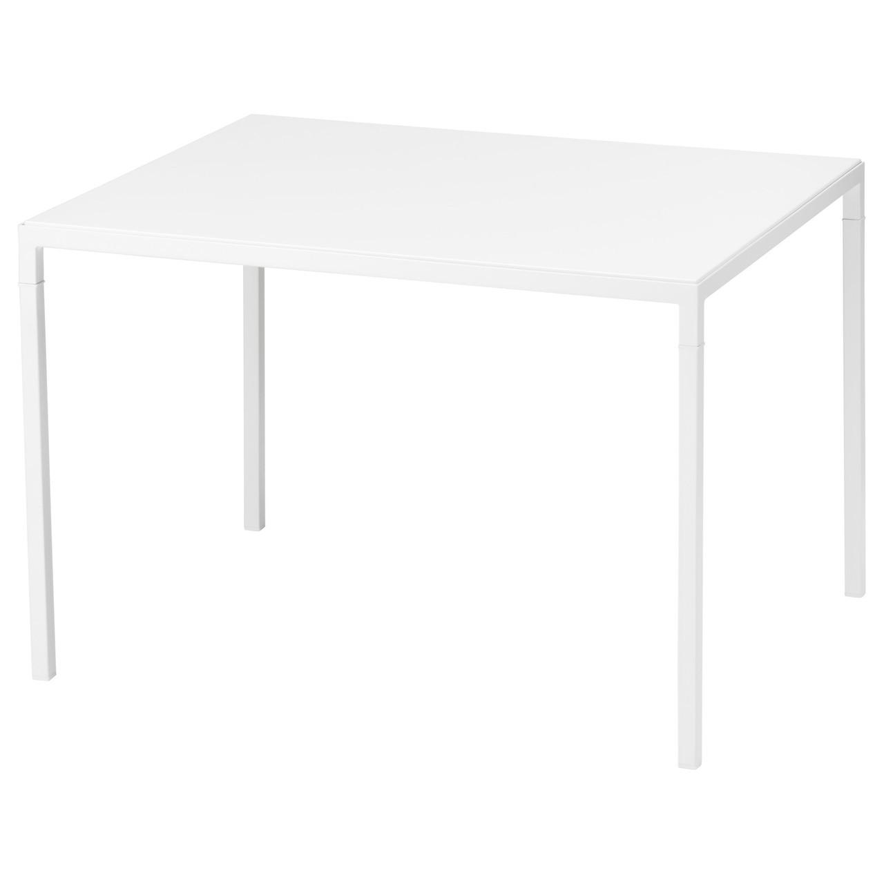 НИБОДА Журнальный столик со столешницей, белый/серый, 75x60x50 см 40342638 ИКЕА, IKEA, NYBODA