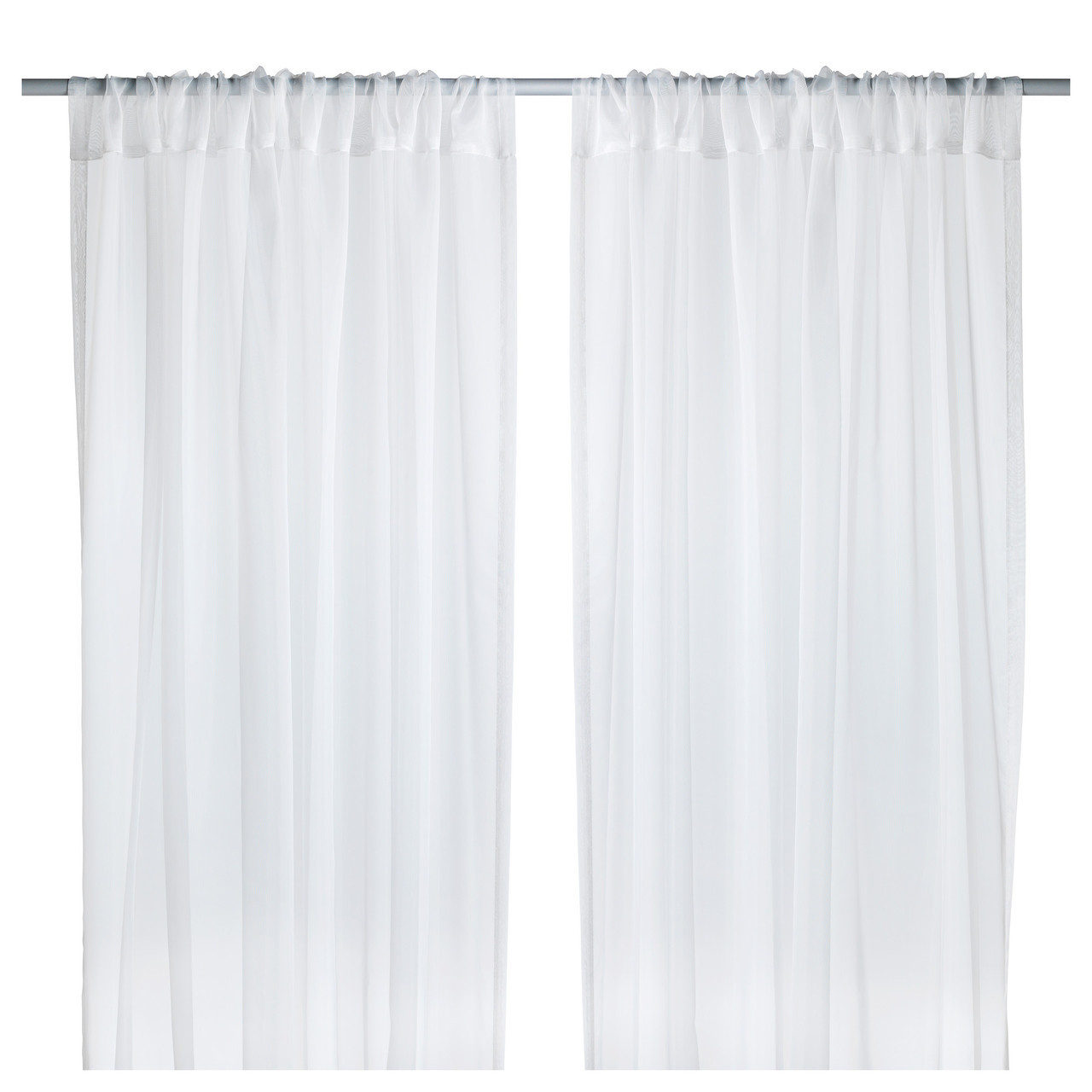 ТЕРЕСИА Гардины, 2 шт., белый, 145x300 см 50232333 ИКЕА, IKEA, TERESIA