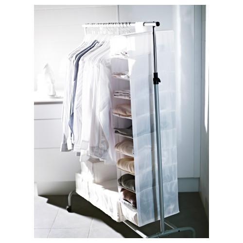 СКУББ Модуль для хранения с 9 отделениями, белый, 22x34x120 см 10185588 IKEA, ИКЕА, SKUBB