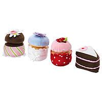 ДУКТИГ Кексы, мягкая игрушка, 4 шт. 70380775 IKEA, ИКЕА, DUKTIG