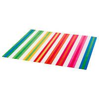 ПОББИГ Салфетка под приборы, в полоску, разноцветный, 37x37 см 00327084 IKEA, ИКЕА, POPPIG