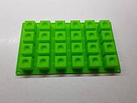 Силиконовая форма куб с выемкой на 24 ячейки, фото 1