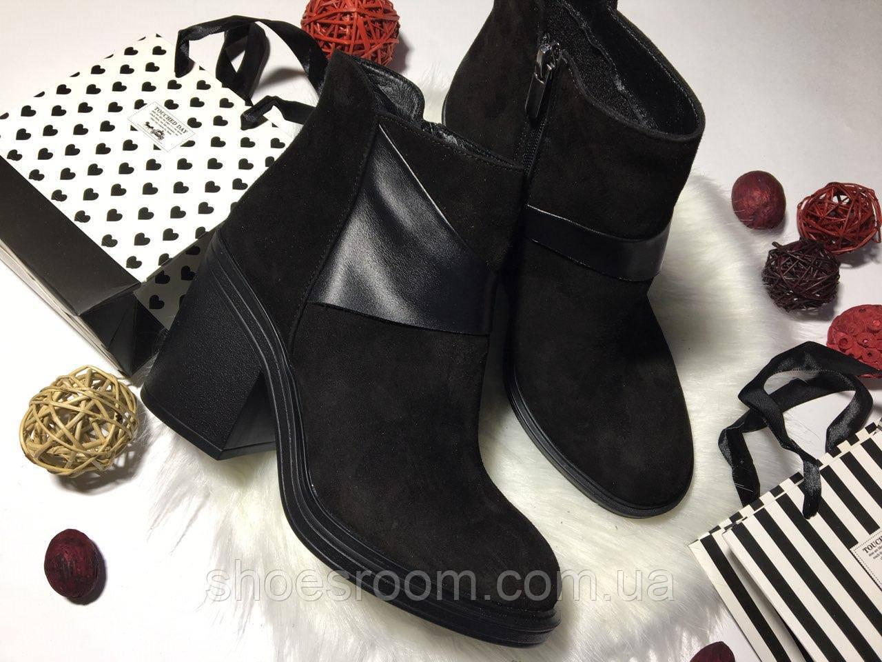 dd86e268b Ботинки, ботильоны женские весна/осень, велюр, черные - Интернет-магазин  обуви