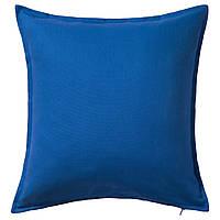ГУРЛИ Наволочка на подушку, синий, 50x50 см 40281140 IKEA, ИКЕА, GURLI