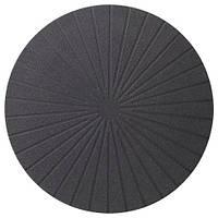ПАННО Салфетка под приборы, круглый, черный, 37 см 70351136 IKEA, ИКЕА, PANNA