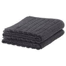 ВАГСЙОН Полотенце для рук, темно-серый, 30x50 см, 2 шт 10353614 IKEA, ИКЕА, VÅGSJÖN