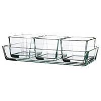 МИКСТУР Форма/блюдо для духовок, 4 шт, прозрачное стекло 60101652 IKEA, ИКЕА, MIXTUR