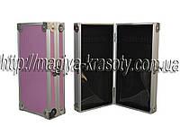 Пенал для кистей Brush Box Alluminium, алюминиевый, цвета (серебристый, розовый), фото 1