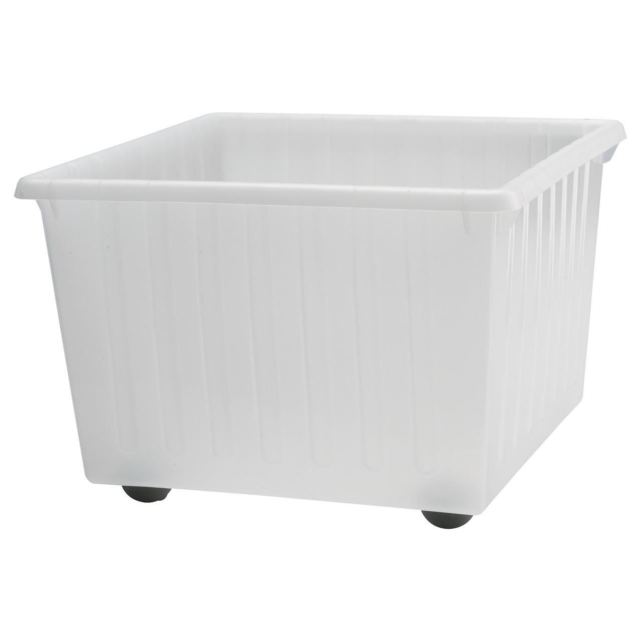 ВЕССЛА Ящик на колесах, белый, 39x39 см 30064849 IKEA, ИКЕА, VESSLA