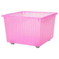 ВЕССЛА Ящик на колесах, светло-розовый, 39x39 см 10099289 IKEA, ИКЕА, VESSLA