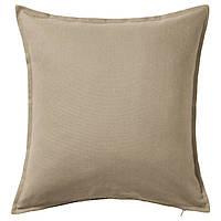 ГУРЛИ Наволочка на подушку, бежевый, 50x50 см 20281136 IKEA, ИКЕА, GURLI