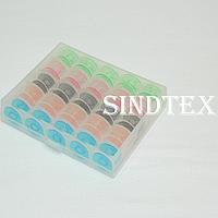 Шпульки в органайзере для бытовых швейных машин (пластик)