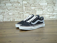 Мужские кеды Vans Old Skool Black/Grey (реплика), фото 1