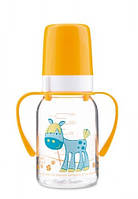 Тритановая бутылочка 120 мл с ручками 3+мес. Canpol Babies (ослик)