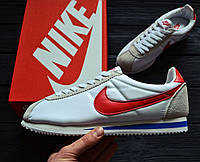 Кроссовки Nike Cortez Basic Leather Forrest Gump (Реплика ААА+)