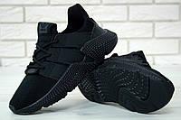 """Кроссовки Adidas Prophere """"Triple Black"""". Живое фото. Реплика ААА+"""
