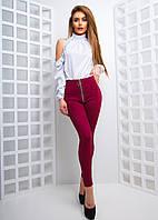 Комплект из блузы и замшевых леггинсов