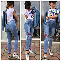 Стильные женские джинсы Момы с кошечками