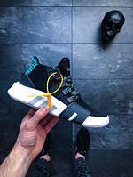 Мужские кроссовки Адидас Adidas (реплика) EQT BASK ADV Black Multi чёрные с белой подошвой