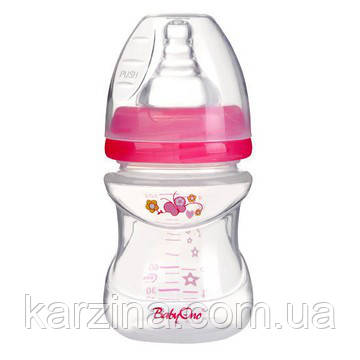 Бутылка антиколиковая с широким горлышком 0+мес. 120 ml BabyOno