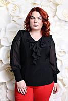 Блуза большого размера Милания  черный черный, 54