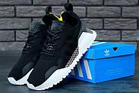 Мужские кроссовки Adidas AF 1.4 Primeknit black/white. Живое фото. Реплика ААА+