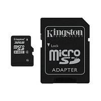 Карта памяти Kingston microSDHC 32GB Class 4 (с адаптером) (SDC4/32GB)