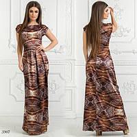 Платье длинное облегающее без рукав атлас 42,44,46, фото 1