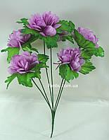 Искусственный куст хризантемы с сиреневыми цветами