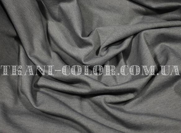 Трикотаж джерси средне серый меланж, фото 2