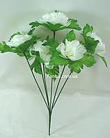 Искусственный куст хризантемы с белыми цветами