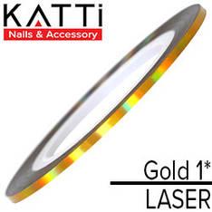 KATTi Лента для декора Laser Золото 1мм мульти-перелив