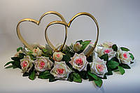 Кольца для украшени свадебной машины бежево-розового цвета