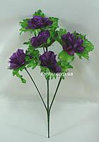 Искусственный куст хризантемы с фиолетовыми цветами