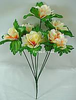 Искусственный куст хризантемы с молочными цветами