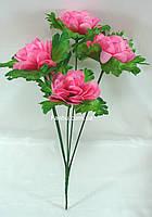 Искусственный куст хризантемы с розовыми цветами