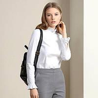Рубашка 5745 Burvin белая с длинным рукавом хлопок