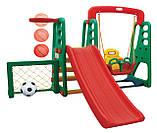 Ігрові майданчики 4в1 / гірка + качеля + баскетбол + ворота, фото 3