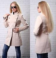 Женское пальто (черный, кремовый, кэмэл), фото 1