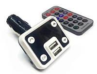 ФМ Модулятор Optima FM-07 (Bluetooth, MicroSD, 2USB, Aux in, Call Answer)