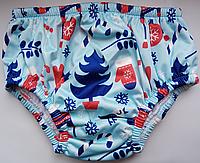 Стильные непромокаемые плавки-подгузники для бассейнов и водоемов S, зимние радости, нет