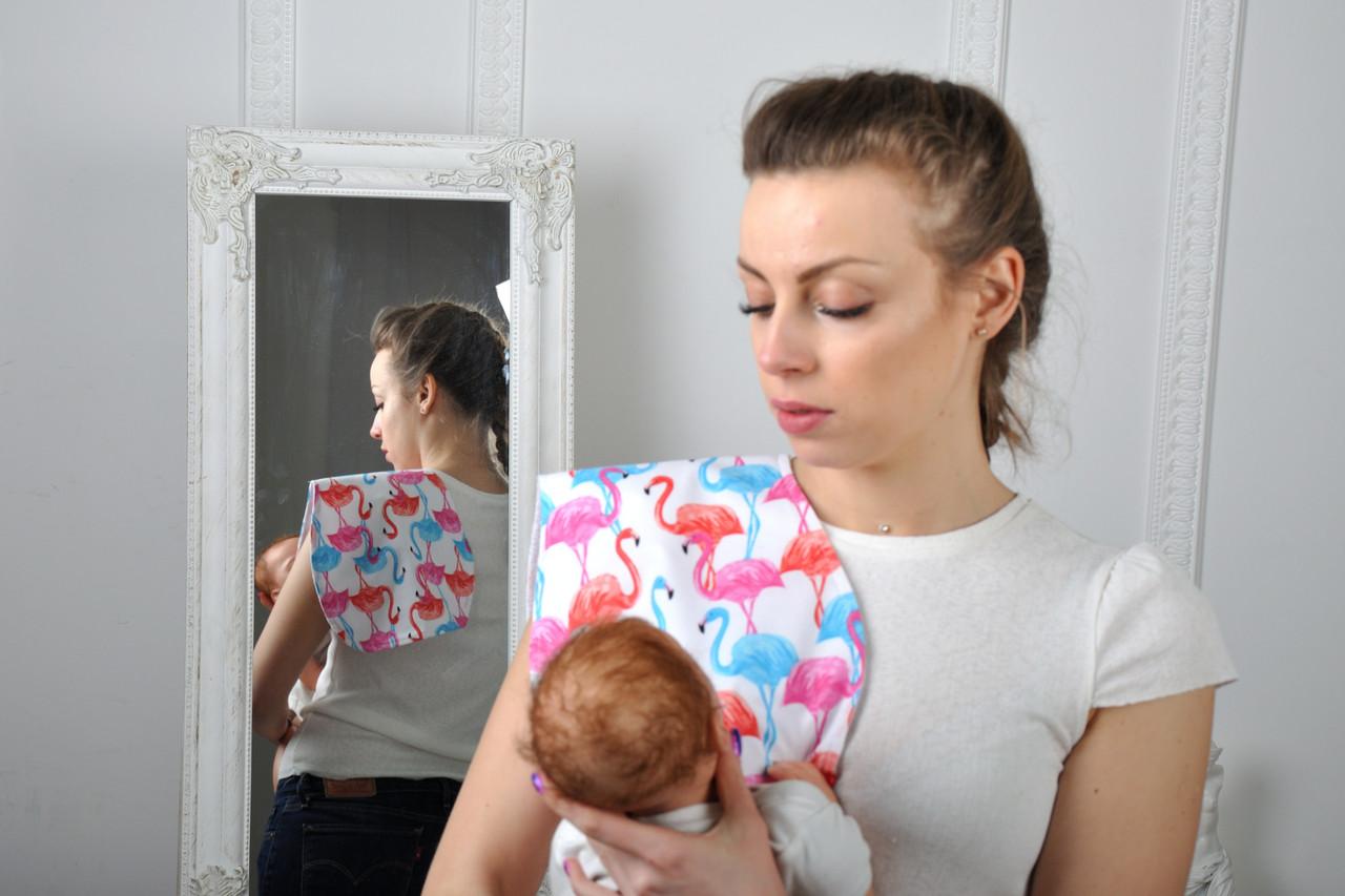 Полотенце для гигиены новорожденного, Фламинго