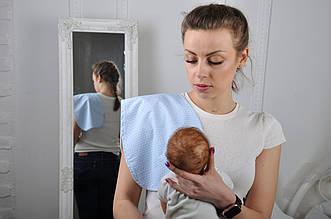 Полотенце для гигиены новорожденного, Голубая вязь