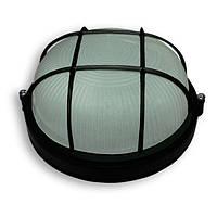 Светильник 100W круг черный с решеткой