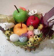 Корзинка  большая с пасхальным декором Пасхальный сувенир